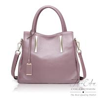 DF Flor Eden - 夢幻Belle牛皮款手提斜背2用包-共2色
