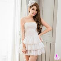 【Ayoka】角色扮演 雪白平口短洋裝三件式公主派對角色扮演服