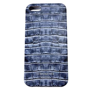 COACH 仿鱷魚紋 iPhone 5 手機保護殼(藍)