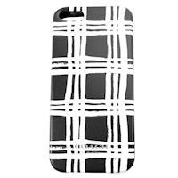 COACH 雙色格紋 iPhone 5 手機保護殼(黑白)