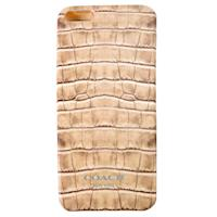 COACH 仿鱷魚紋 iPhone 5 手機保護殼(米灰)