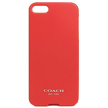 COACH 素面 LOGO iPhone 5 手機保護殼(珊瑚紅)