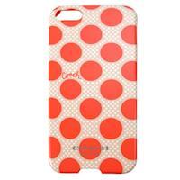 COACH 圓點 iPhone 5 手機保護殼(橘白)