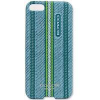 COACH 民俗風直紋 iPhone 5 手機保護殼(藍綠)