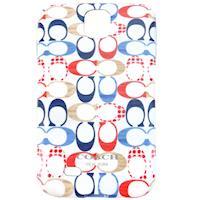 COACH 滿版 C LOGO Samsung S4 手機保護殼(彩)