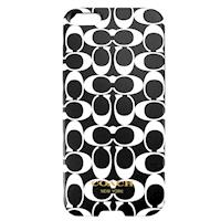 COACH 雙色 C LOGO  iPhone 5 手機保護殼(黑白)