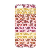 COACH LOGO 字母滿版 iPhone 5 手機保護殼(紅黃白)