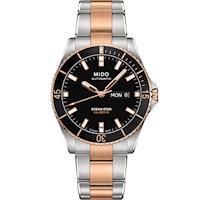 MIDO 美度 海洋之星 動力儲存80專業200米潛水機械錶(黑x雙色/42mm) M0264302205100