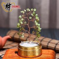 精巧水晶發財樹~橄欖石 小 ~含開光~~財神小舖~