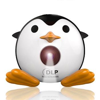 輕巧可愛小企鵝微型投影機DLP加贈多媒體迷你3.0音箱