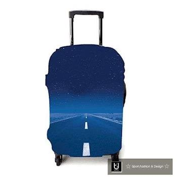 【US.STYLE】夜間公路30吋旅行箱防塵防摔保護套(30吋-32吋適用)