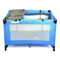 EMC 輕巧型遊戲床-藍色(附雙層架/尿布台/蚊帳)