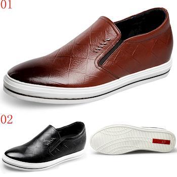 (預購)GOG高哥2017春新款休閒套腳板鞋增高6.0cm兩色可選WZ44782黑WZ4783棕
