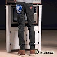 【Dreamming】時尚迷彩個性骷顱伸縮休閒長褲(共二色)