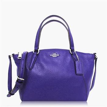 COACH 多種背法 皮革 / 肩背 / 斜背兩用包(小款) 紫色