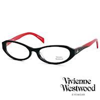 Vivienne Westwood 光學鏡框★復古晶鑽造型框★英倫龐克雙色板料/平光鏡框(火紅黑) VW193E02