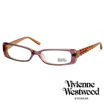Vivienne Westwood 光學鏡框★骨棒龐克造型★英倫龐克風/平光鏡框(粉晶紫) VW175E01