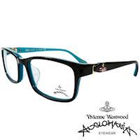Vivienne Westwood 英國Anglomania側接金屬經典土星光學眼鏡(天藍+紫)AN285E04