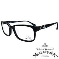 Vivienne Westwood 英國Anglomania側接金屬經典土星光學眼鏡(黑+藍)AN285E03