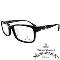 Vivienne Westwood 英國Anglomania側接金屬經典土星光學眼鏡(黑+銀)AN285E01