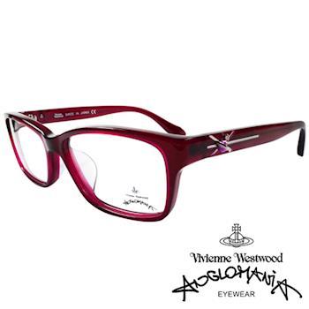 Vivienne Westwood 英國Anglomania時尚款俏皮土星光學眼鏡(紅紫)AN284E03