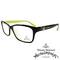 Vivienne Westwood 英國Anglomania時尚款俏皮土星光學眼鏡(黑+黃綠)AN284E02