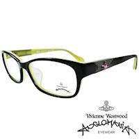 Vivienne Westwood 英國Anglomania復古感個性鉚釘光學眼鏡(黑+綠)AN280E03