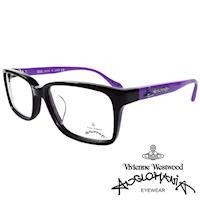 Vivienne Westwood 英國Anglomania亮眼配色光學眼鏡(黑+紫)AN281E03