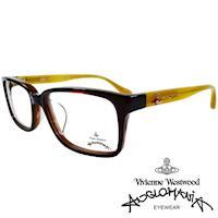 Vivienne Westwood 英國Anglomania亮眼配色光學眼鏡(琥珀+黃)AN281E04