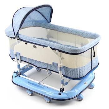 YSF 寶寶樂水平睡箱搖床(加大加高款)-天空藍