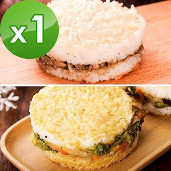 樂活e棧-綜合米漢堡-素食可食(6顆/包,共1包)