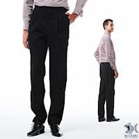 【NST Jeans】Noir黑 細純棉 打摺休閒褲(中高腰寬版) 005(67341)