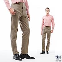 【NST Jeans】花生奶茶色 斜口袋簡約長褲(中腰) 397(66476)