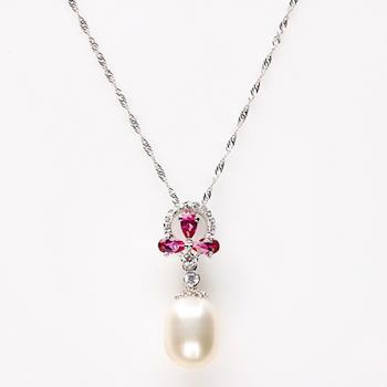 【寶石方塊】靈蛇之珠天然珍珠項鍊