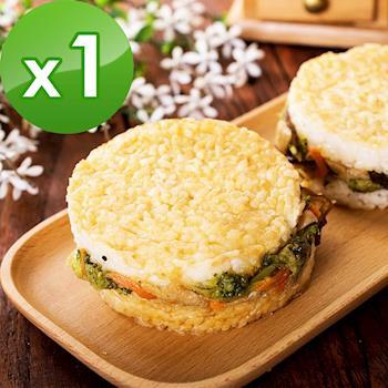 樂活e棧-鮮蔬米漢堡-素食可食(6顆/包,共1包)