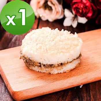 樂活e棧-素沙茶鮮菇米漢堡-素食可食(6顆/包,共1包)