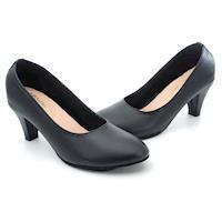 【 cher美鞋】MIT經典素雅微粗低跟美鞋-OL最愛款-黑色-0681001600-89