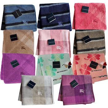BURBERRY 經典刺繡小方巾(11色)