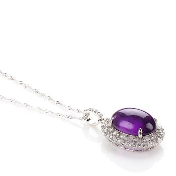 【寶石方塊】萬紅千紫天然紫水晶項鍊