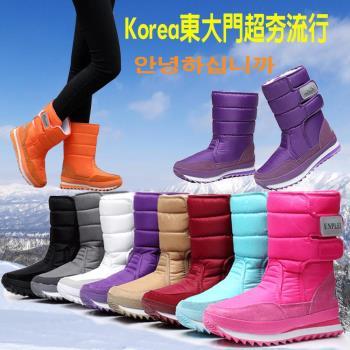 【森之舞】防水防滑保暖棉高筒雪靴(八色)預購+現貨