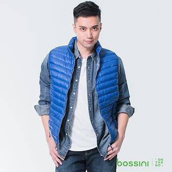 bossini男裝-高效熱能輕羽絨背心01皇家藍