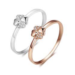 美玥珠寶  幸運天使天然鑽石戒指