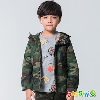 bossini男童-休閒連帽外套01草綠
