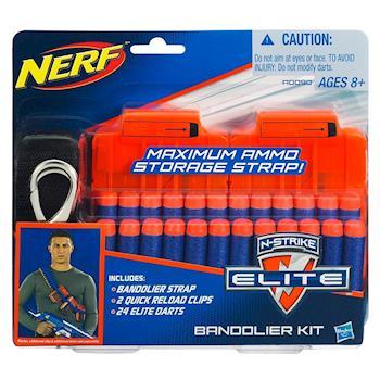 【 美國 Hasbro / NERF 樂活打擊 】ELITE系列 - 戰鬥彈夾腰帶組