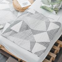 北歐全棉布藝絎縫墊可機洗手洗防滑床墊地墊地毯90x90cm