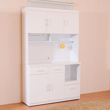 【日本直人木業】SUNNE簡單生活 120CM餐櫃組-免組