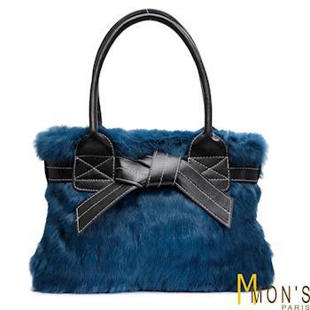 MONS兔毛皮草典藏羊皮包超值組(BM2005+CP3507)