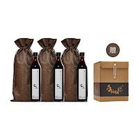 【古麻】泰完美組合(復古版)古麻頂級黑芝麻油X3贈送手路麵線文創盒1盒每盒(4入8人份/每入140克)