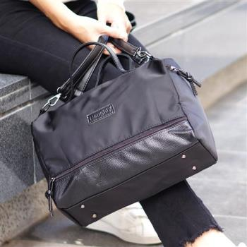 【Acorn*橡果】韓版尼龍防水機車包側背包821N(黑色)
