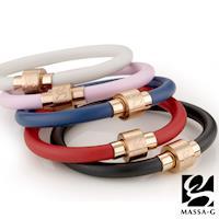 MASSA-G O2鍺鈦能量手環-6MM玫瑰金扣